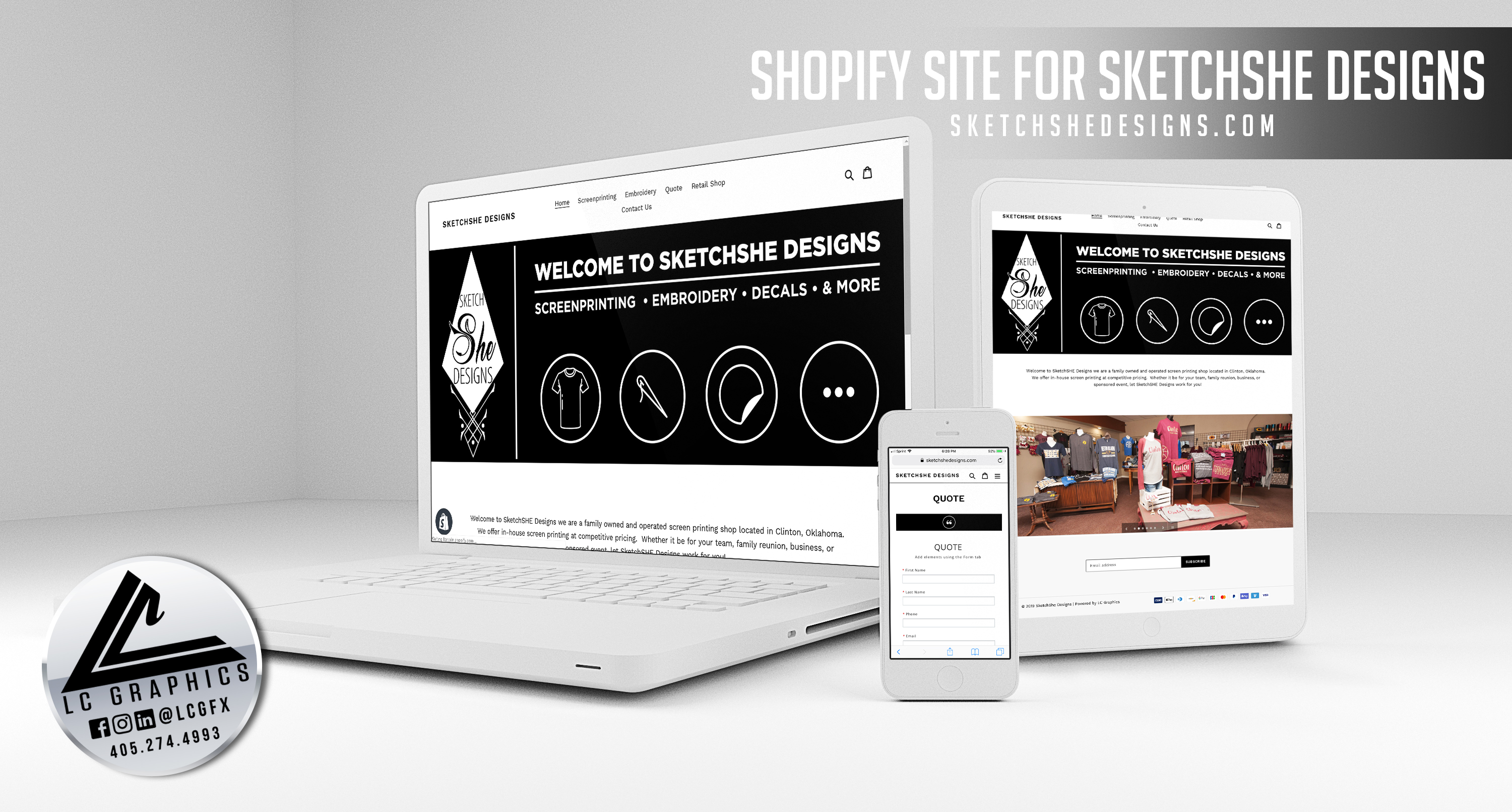 Sketchshe Designs Website Mockup