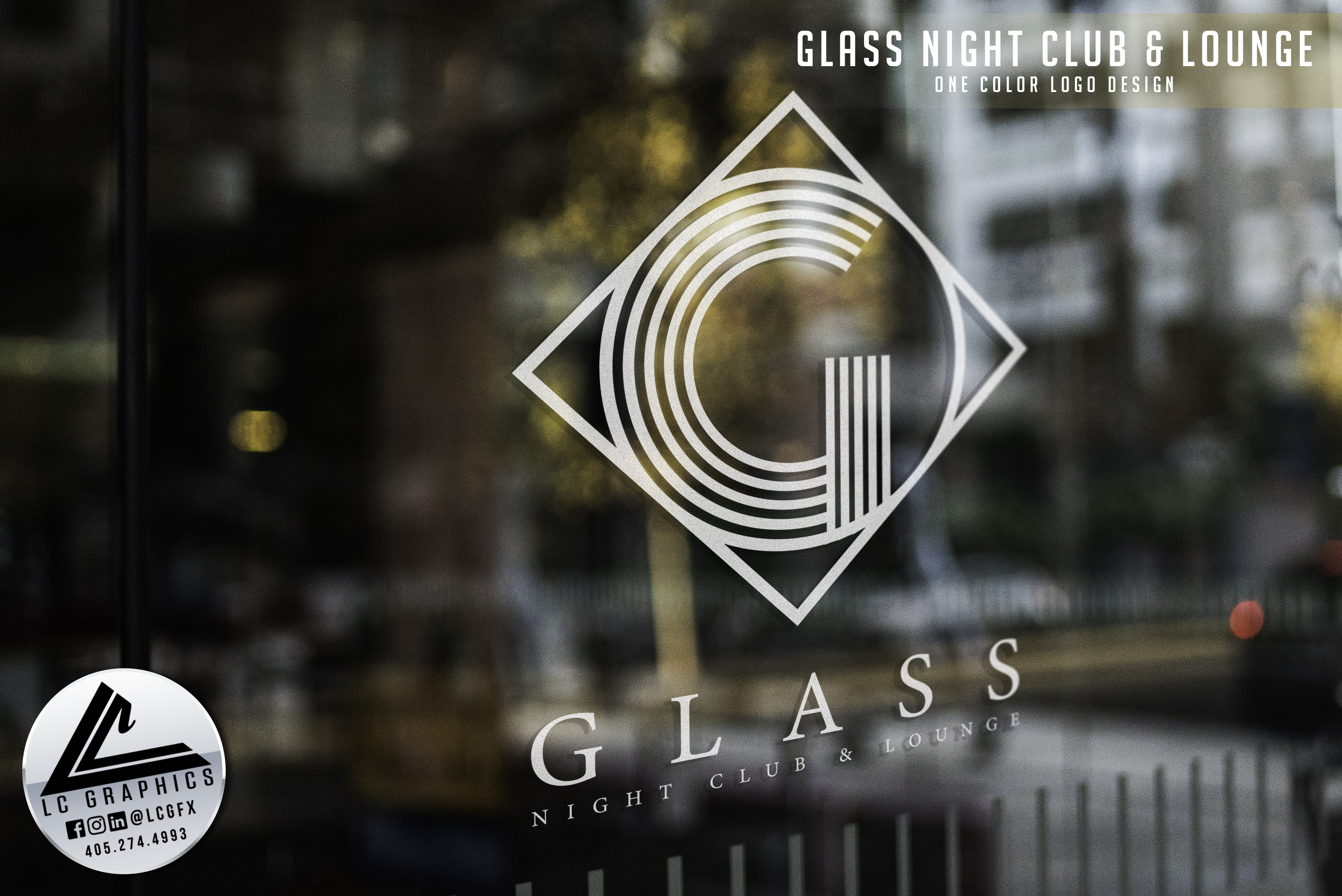 Glass Logo One Color Mockup