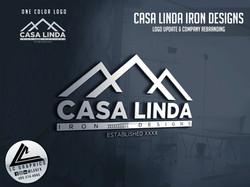 Casa Linda Iron Designs Logo Mockup