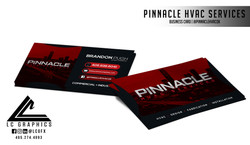 Pinnacle HVAC Services Business Cards Mockup