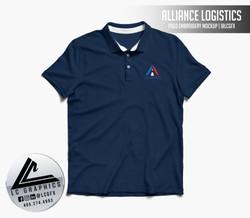 Alliance Logistics Polo Mockup