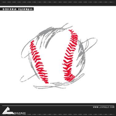 Scribble Baseball Vector Art