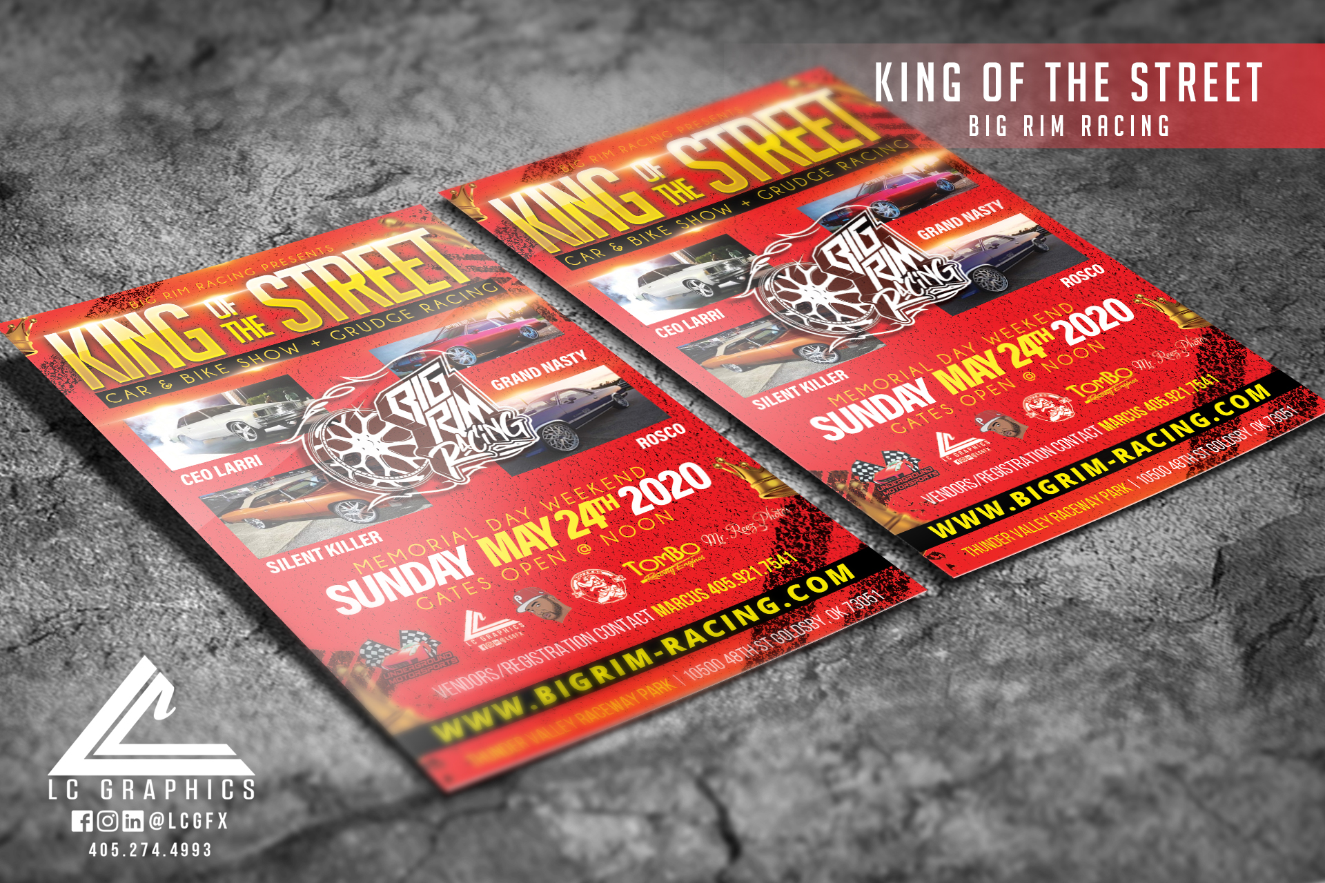King of the Street 4x6 Flyer Mockup