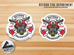 Reydon Fire Dept Sticker
