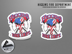 Higgins Fire Dept Sticker