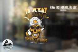 Raw Installations Window Logo Mockup