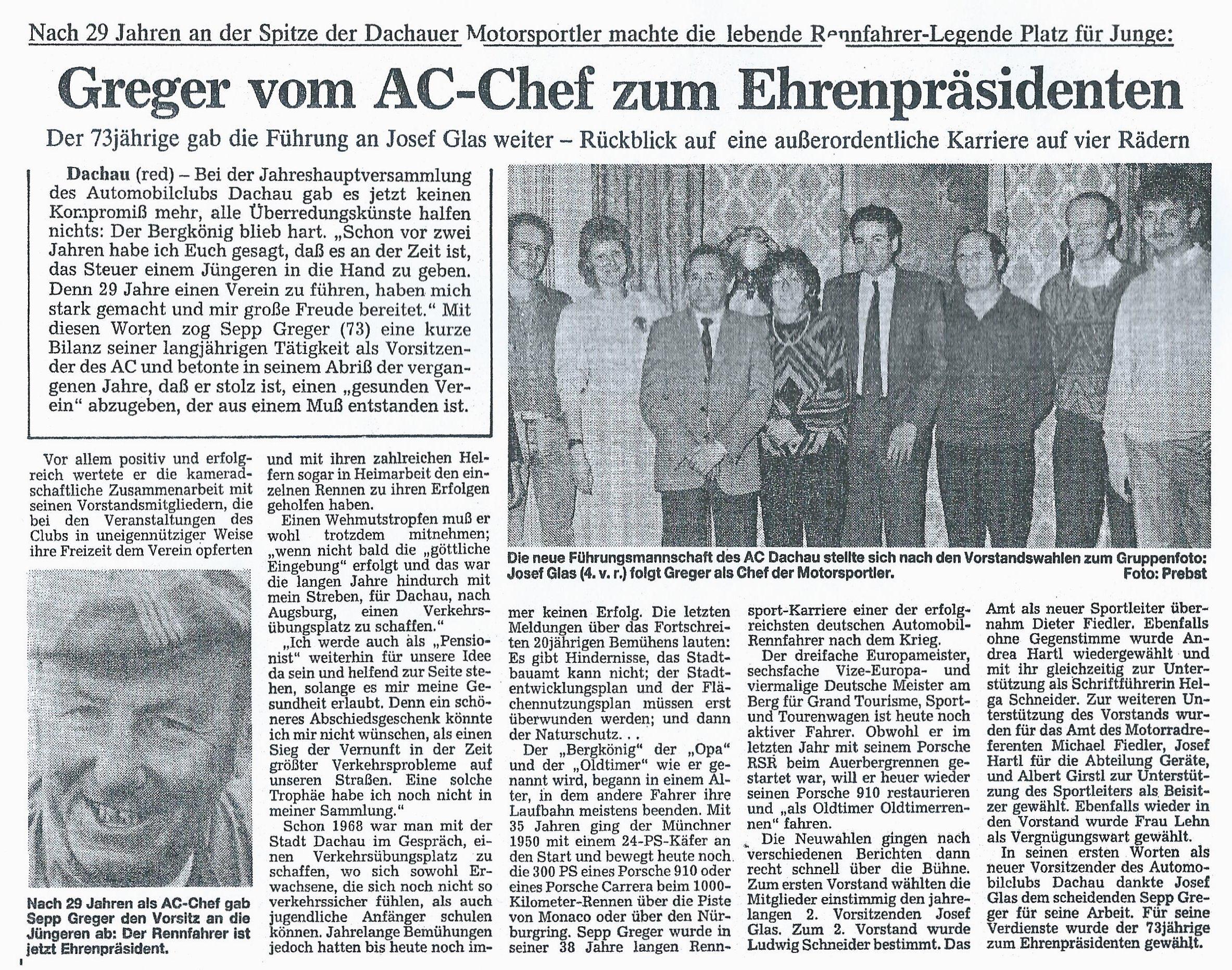 Zeitungsartikel 1988
