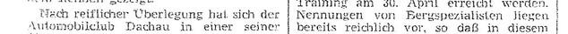Zeitungsartikel Preißenbergrennen 1966