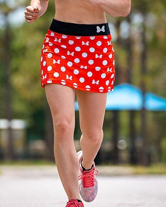 Red Bow & Polka Dot Skirt