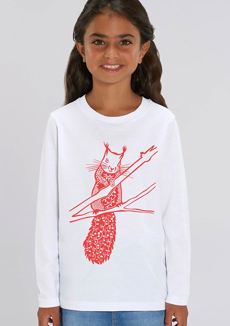 Red Squirrel Long sleeved tee
