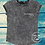 Thumbnail: Acid wash organic cotton women's tee with rolled sleeves