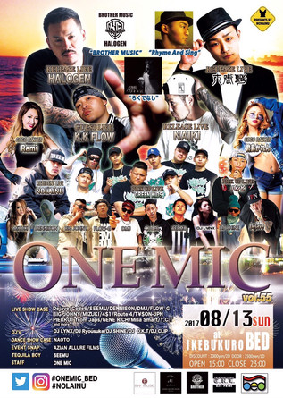 "8.13(SUN) ""ONE MIC"" at 池袋bed"