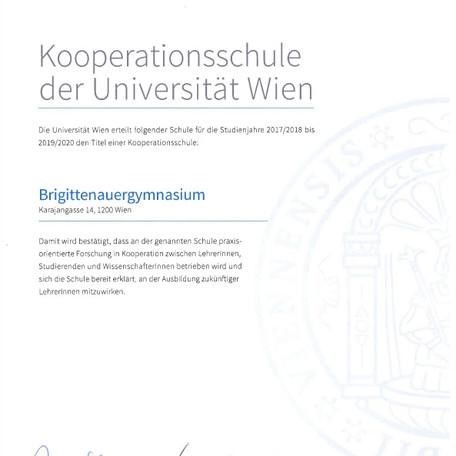 Kooperationsschule der Uni Wien