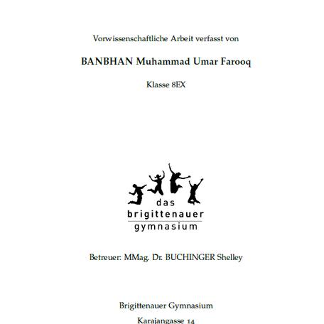 3. Platz beim Hans-Riegel Fachpreis für Muhammad BANBHAN