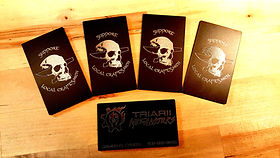 Laser Etched Metal Business Cards