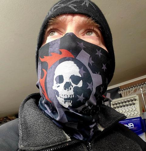 Triarii Face Shields: Skull Corp Logo