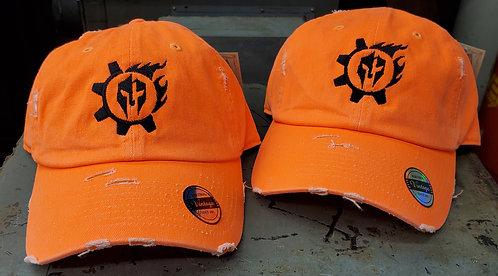 Orange Distressed Operator Hats