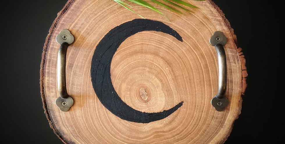 CRESCENT MOON SERVING TRAY