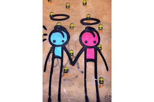 Graffiti Rio de Janeiro, schönste Wandbilder Rio de Janeiro, Graffiti Liebe Love Amore Amour