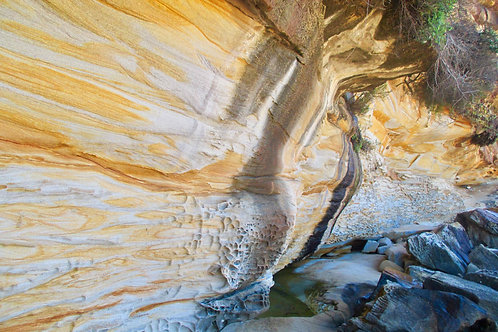 Steinformationen Australien, Klippensteine Australien, Bondi Beach Walk, Manly Beach Walk, Felswand Australien, Felsen Sydney