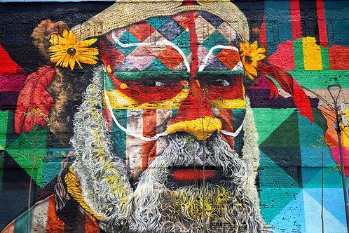Graffiti Rio de Janeiro, Etnias Rio de Janeiro, Graffiti Olympische Spiele Rio, Street art Rio de Janeiro