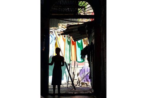 Hinterhof Panama City, Armenviertel Panama City, Soziale Unterschicht Panama City, Bilder für Architekten,