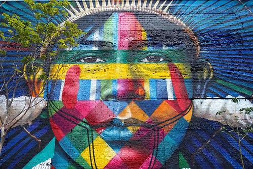 Etnias Rio de Janeiro, Wandbilder Rio, Strassenmalerei Rio, Streetart Rio