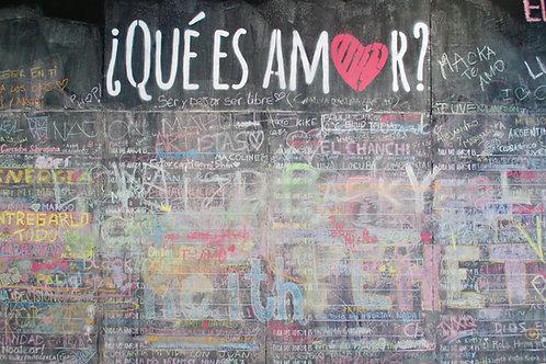 Was ist Liebe, Definition Liebe, Bedeutung Liebe, Graffiti Santiago de Chile