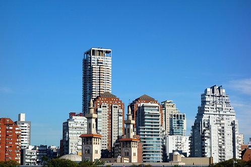 Skyline Buenos Aires, Hochhäuser Buenos Aires, Architektur Buenos Aires