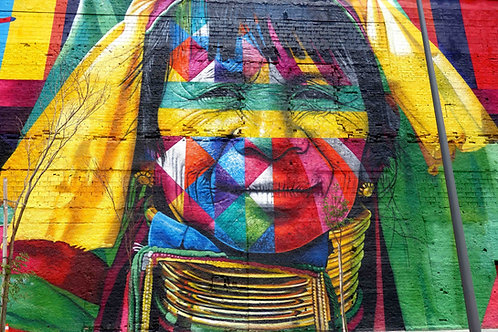Wandbilder Rio, Graffiti alle Kontinente Rio de Janeiro, Wandgemälde olympische Spiele Rio