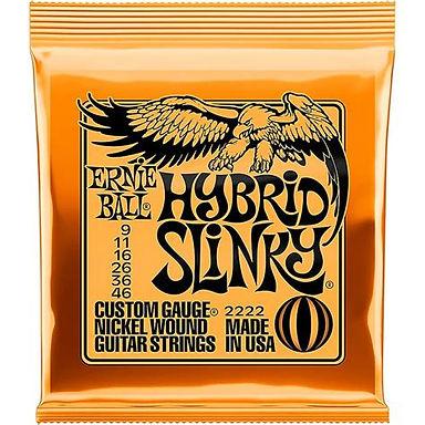 EB2222 Ernie Ball  Hybrid Slinky Electric Guitar Strings set 09-46