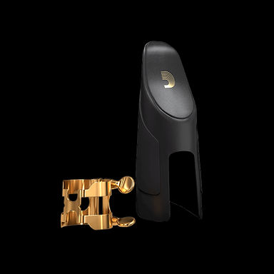 03. HCL1G Clarinet H-Ligature & Cap Gold Gold-plated