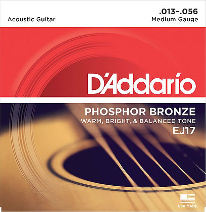 Daddario EJ17 Phosphor Bronze Guitar Strings set