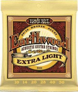 EB2006 Ernie Ball Earthwood Extra Light 80/20 Acoustic Strings 10-50