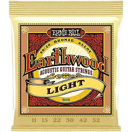 EB2004 Ernie Ball Earthwood Light 80/20 Acoustic Strings 11-52