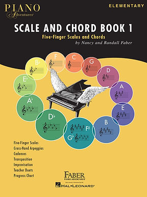 00126033 Faber Piano Adventures Scale & Chord Book 1 - 5-finger Scales