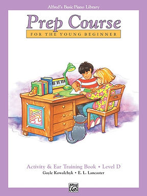 01.Alfred's Basic Piano Prep Course: Activity & Ear Training D