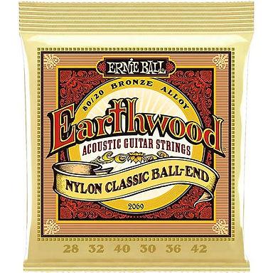 EB2069 Ernie Ball Earthwood Medium Nylon Classic Strings set 28-42