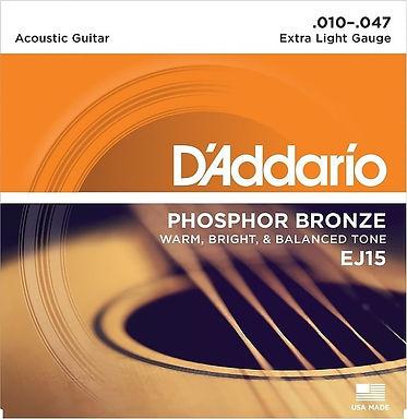 Daddario EJ15 Phosphor Bronze Guitar Strings set