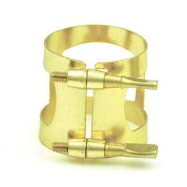 337G 01. Baritone Sax Brass Gold lacquer ligature