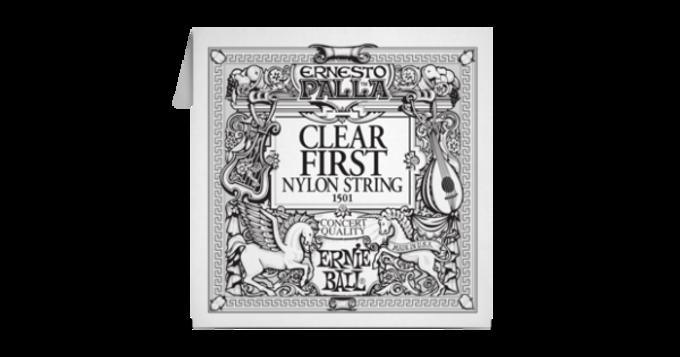 EB1501 Ernie Ball Acoustic Nylon 1st E String Clear Tie End 028
