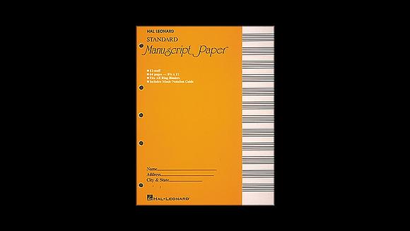 Manuscript paper, 64 pages bound