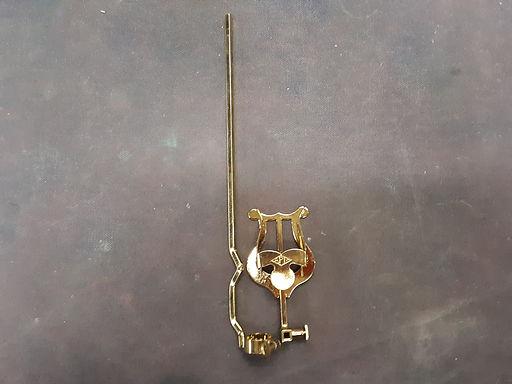 514G 02. Gold Lacquer Bass Trombone Lyre