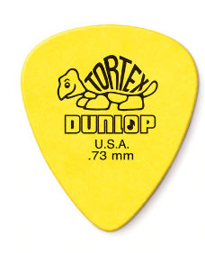 418P73 01._12-pack Dunlop Tortex Yellow .73mm