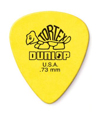 418P73 01._12-pack Dunlop Tortex Yellow .73mm