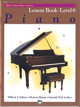 2498 Alfred Basic Piano Library 6 Lesson