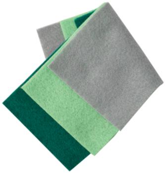 Flute felt rod cloth 3-pack, assorted colors