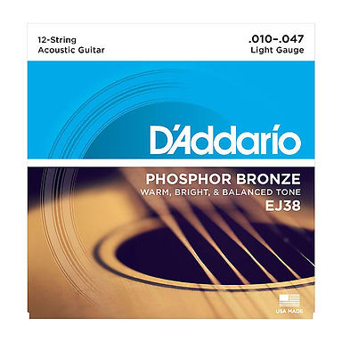 EJ38 Daddario Phosphor Bronze 12-string Guitar set