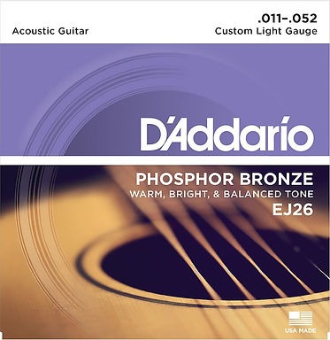 Daddario EJ26 Phosphor Bronze Guitar Strings set