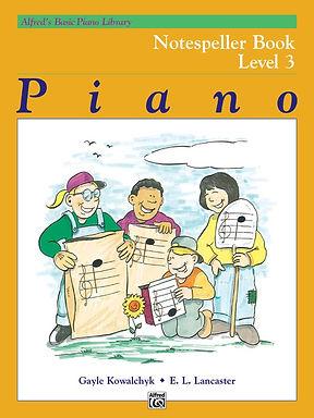 01.Alfred Basic Piano Library 3 Notespeller